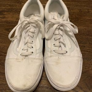 Vans old skool women's sneakers all white